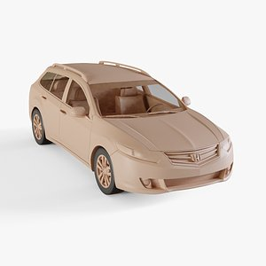 2009 Honda Accord Tourer 3D model