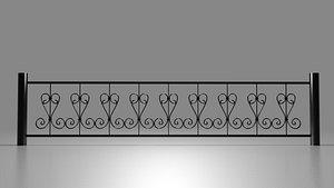 3D grid balcony terrace