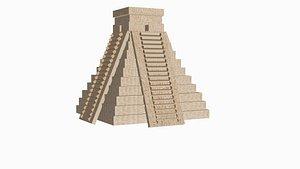 3D Mayan pyramid model