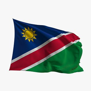 Realistic Animated Flag - Microtexture Rigged - Put your own texture - Def Namibia 3D