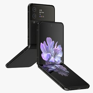 Samsung Galaxy Z Flip 3 Phantom Black 3D model