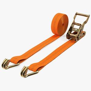 Ratchet Tie Down Strap Double J Hook 3D model