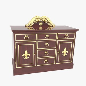 3D model Dresser Antique