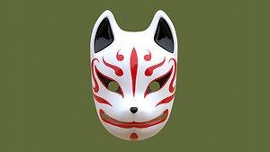 3D mask kitsune model