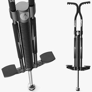 3D Flybar Night Master Pogo Stick Black model
