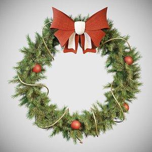 3D cristmas wreath model