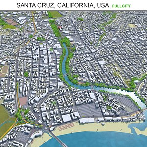 3D Santa Cruz California USA model
