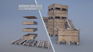 3D Cargo Wood Pallets Collars Cover EUR EPAL vr-3