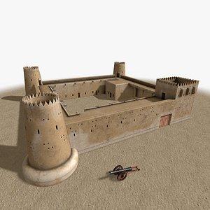 Zubara Fort 3D model