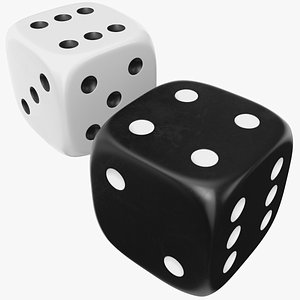 Black And White Dice model