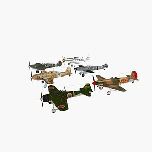 collection 6 great fighters WWII model