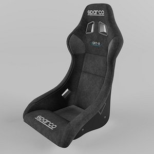 Sparco QRT-R Sports Racing Seat Suede 3D