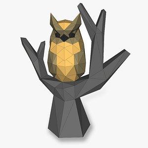 3D model OWL ON TRUNK 3D Papercraf