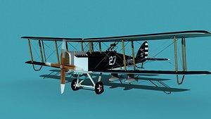 Airco DH-4 Bomber US Marines 3D model