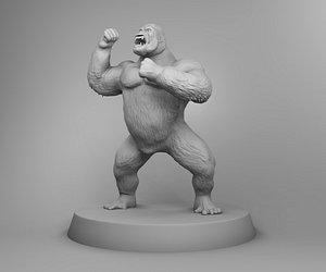 africa gorilla 3D model