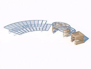 Set of pergolas 3d model 3D