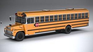 Generic SchoolBus 1980 3D model