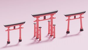 japanese torii gate model