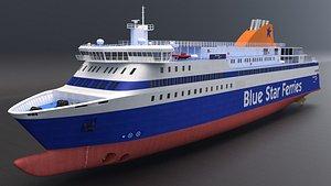 3D blue star ferries - model