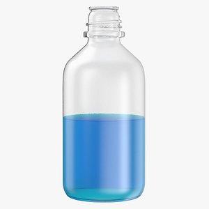 3D laboratory bottle medium isopropanol