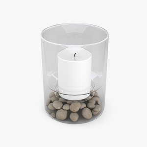 3D Candle In A Glass Jar