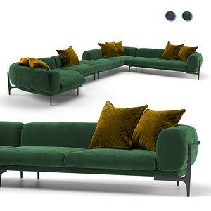 Oblo sofa, Natuzzi Italia 3D model