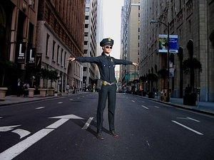 haracter female police officer 3D model