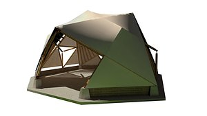 3D BAMBOO CANOPY D-ICO BAKED model