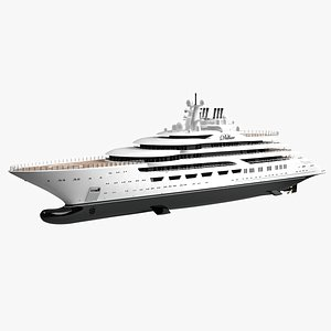 3D Dilbar Luxury Superyacht Dynamic Simulation model