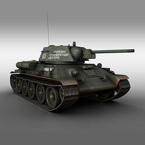 ot-34 t-34 t-34-76 3D model