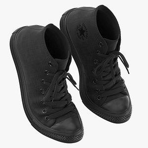 3D Basketball Shoes Bent Chuck Taylor model