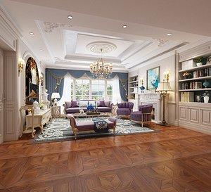 Living room, modern living room, modern style living room, Nordic living room, Nordic living room, E 3D model