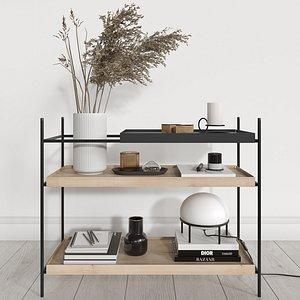 woud shelves decorative filling 3D model
