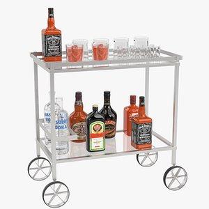 drinks trolley cart 2 obj