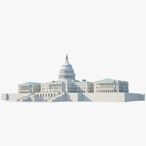3D united state capitol