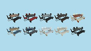 10 Dinning Table E Collection - Furniture Interior Design 3D