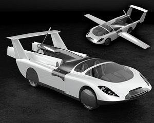 Air car flying vehicle concept 3D model