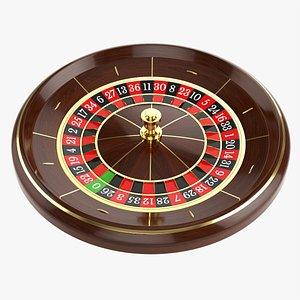 Casino roulette wheel 01 3D model