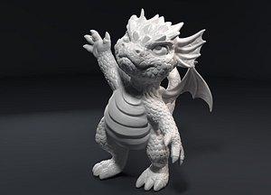 3D kid dragon figurine