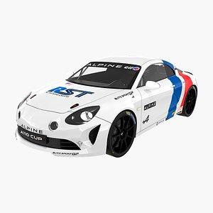Alpine A110 Europa Cup Simon Tirman 3D model
