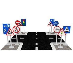 road sign 3D
