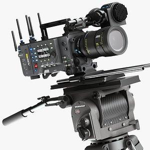 3D model ARRI ALEXA LF Pro Camera with OConnor 2560 Tripod Systems