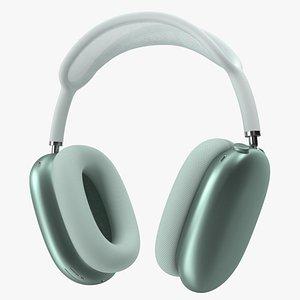 3D headphones green phone model