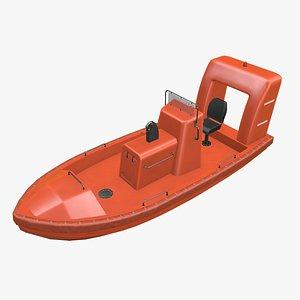 2 motor rescue ship 3D model