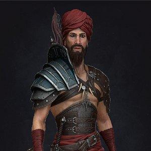 barbarian warrior 3D