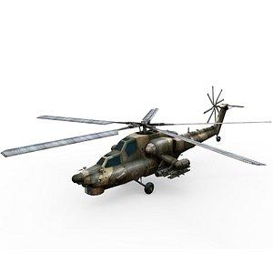 3D model mi 28 helicopter