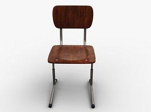 Single School Chair 3D model