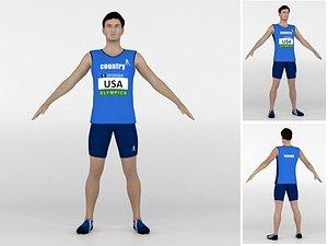 Athlete Runner 07 3D model