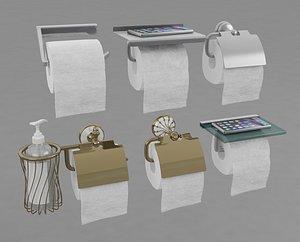 3D holder toilet paper model
