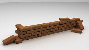 3D bricks model